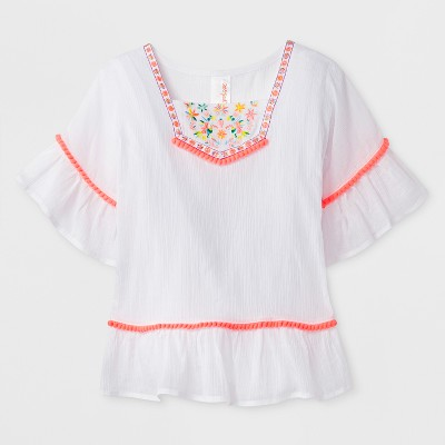 Baby Girls' Solid Cover Up - Cat & Jack™ White 18M
