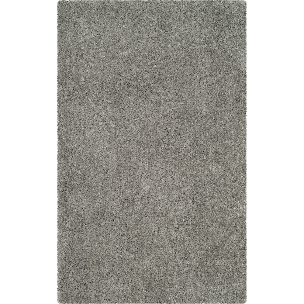 4'X6' Solid Tufted Area Rug Light Gray - Safavieh