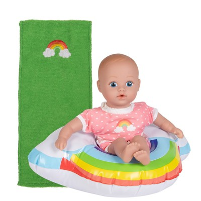Adora Water Baby Doll, SplashTime Baby Tot Over The Rainbow, 8.5 inch Baby Doll for Water Play. Quick Dry & Machine Washable. Perfect Bath Toys for 1 Year Old and Over