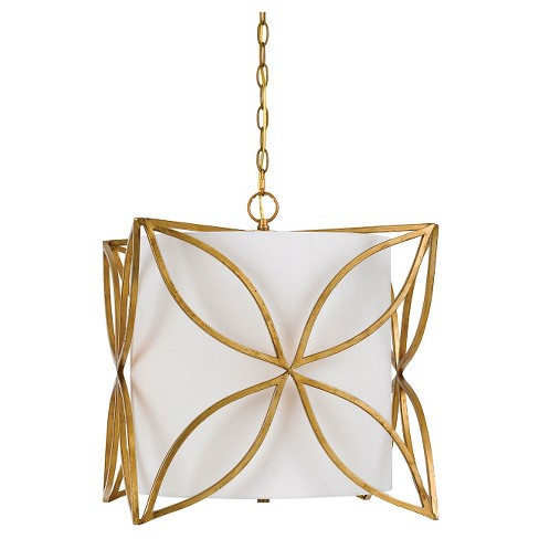 Cal Lighting Belton Metal/Fabric Chandelier - French gold - image 1 of 1