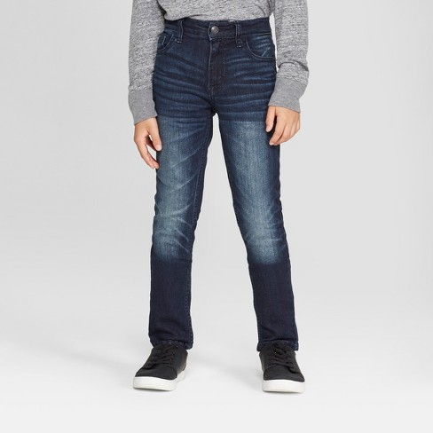 67ac55a55 Boys' Skinny Fit Jeans - Cat & Jack™ Medium Blue : Target