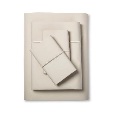 Hotel Single Baratta Stitch Sheet Set (King)Sea Salt 300 Thread Count - Fieldcrest™
