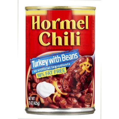 Hormel 99% Fat Free Turkey with Beans Chili 15oz