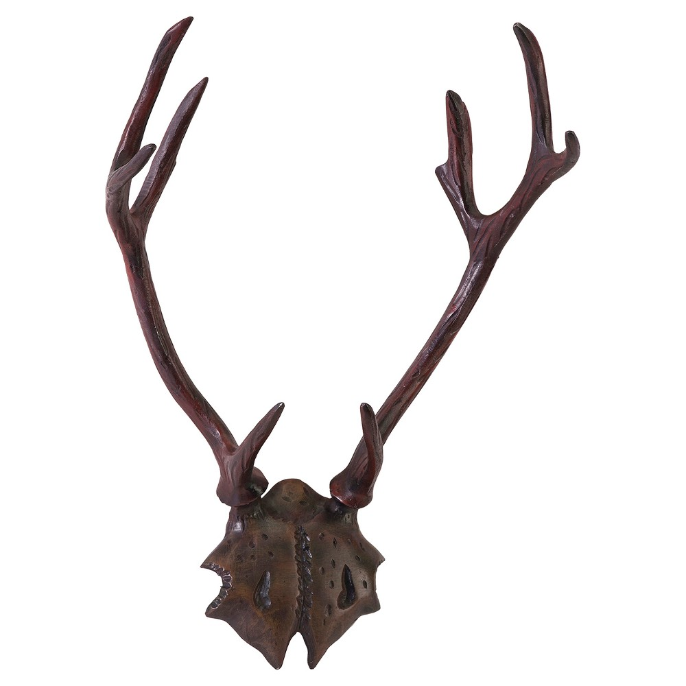 Image of Aurora Antler Decorative Wall Sculpture - Brown/Bronze