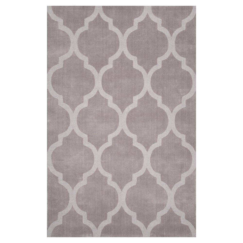 nuLOOM 100% Wool Hand Tufted Maybell Area Rug - Gray (5' x 8'), Grey