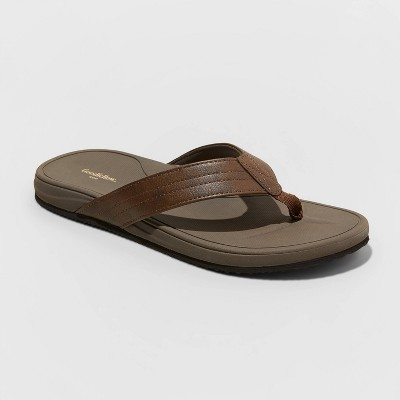 Men's Guy Flip Flop Sandals - Goodfellow & Co™ Brown L