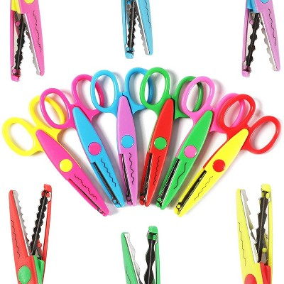 Bright Creations 6 Pack Decorative Paper Scalloped Edge Craft Scissor for DIY Craft Projects, Scrapbooking and Art Classes, Pink