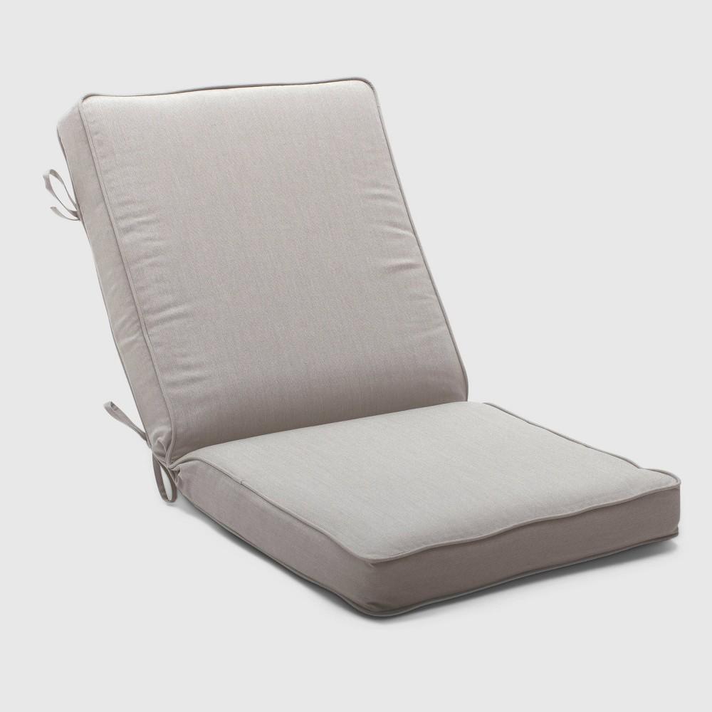 Outdoor Double Welt Chair Cushion Sunbrella Spectrum Dove - Smith & Hawken