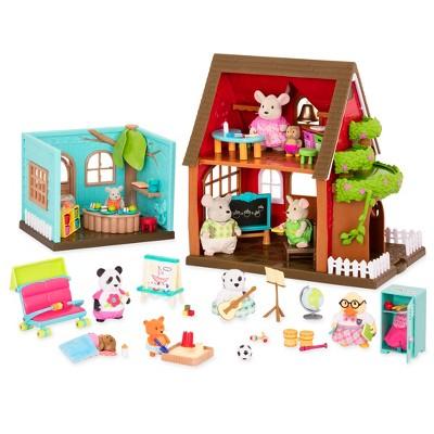 Li'l Woodzeez Toy School Set with Accessories 115pc - Schoolhouse Playset