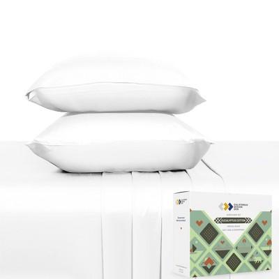 Soft Cooling Sheet Sets, 100% Natural - Cotton & Viscose from Eucalyptus Blend - California Design Den