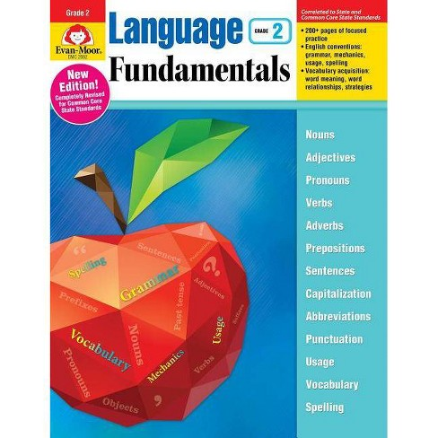 Language Fundamentals, Grade 2 - by  Evan-Moor Educational Publishers (Paperback) - image 1 of 1