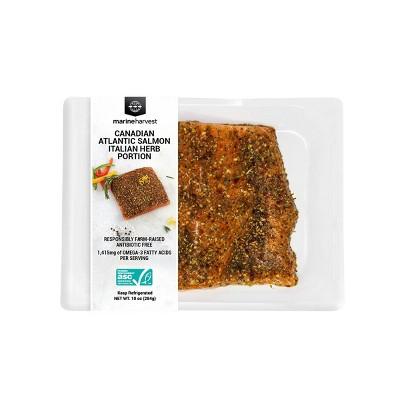 Marine Harvest Italian Herbs Salmon Portion - Frozen - 10oz
