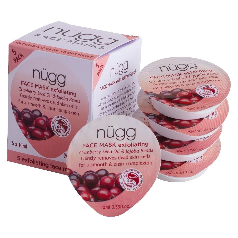 nügg Exfoliating Face Mask - Cranberry Seed Oil & Jojoba Beads - 5ct