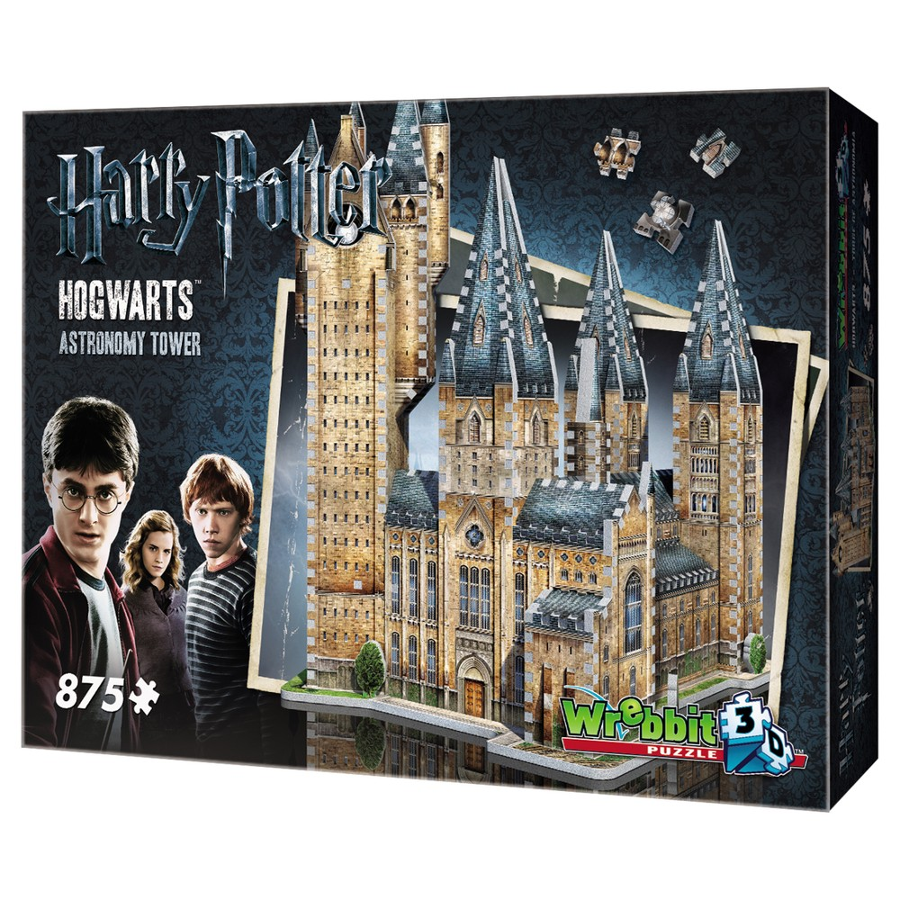Wrebbit Harry Potter Hogwarts Astronomy Tower 3D Puzzle 875pc Expand your journey into the magical world of Harry Potter with Hogwart - Astronomy Tower, an 875-piece 3D puzzle from Wrebbit3D. Part of a unique and exclusive Harry Potter Hogwarts Collection, this new addition includes famous buildings of the beloved World of Harry Potter. Assembled dimensions: 15.5 inches L x 12.75 inches W x 19.25 inches H. For 14 years old to adults Choking Hazard! Not for children under 3 years old. Wrebbit3D puzzles are the largest and have the highest piece count of their kind. Snug and tight fitting pieces that are easy to handle. They are the sturdiest 3D puzzles on the market. Highest quality of design and illustration. Made in Canada from non-toxic polyethylene foam. Warning: Choking Hazard - Small parts. Not for children under 3 yrs. Gender: Unisex.