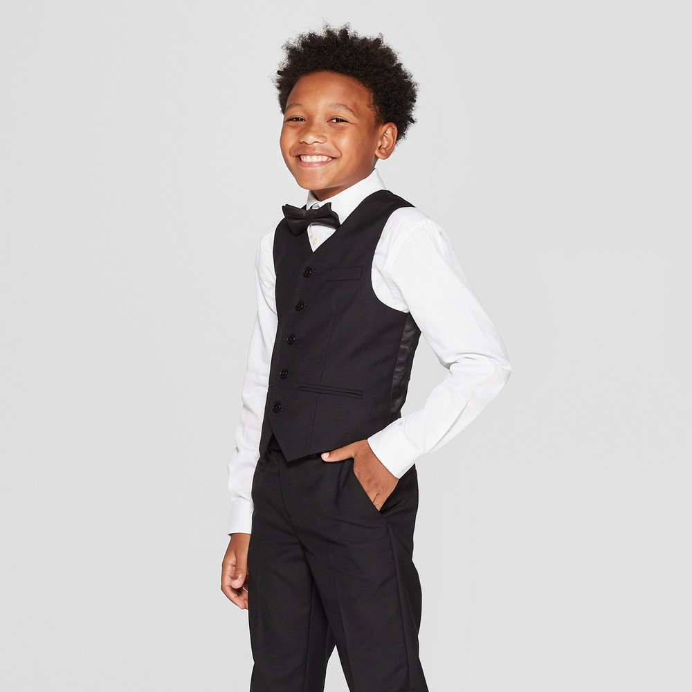 Boys' Tuxedo Boys' Fashion Vest Black 6 - WD.NY Black
