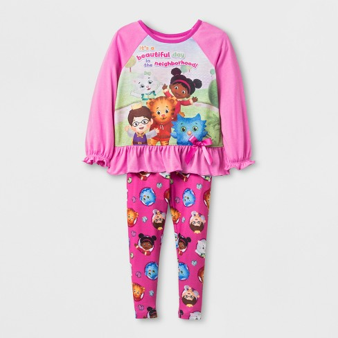 Toddler Girls' Daniel Tiger 2pc Pajama Set - Pink - image 1 of 1