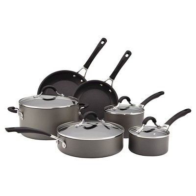 Circulon Innovatum Hard Anodized Aluminum Nonstick 10 piece Cookware Set