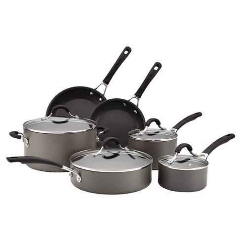 Circulon Innovatum Hard Anodized Aluminum Nonstick 10 piece Cookware Set - image 1 of 13