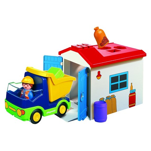 Playmobil 1.2.3 Truck with Garage - image 1 of 2