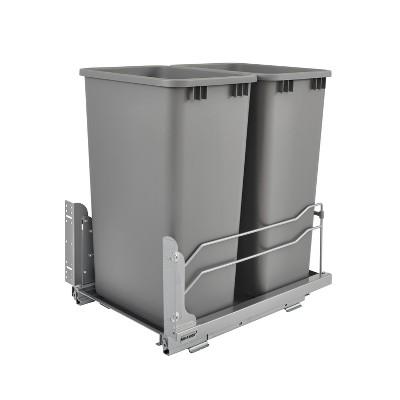 Rev-A-Shelf 53WC-2150SCDM-217 Double 50-Quart Pullout Soft Close Waste Container