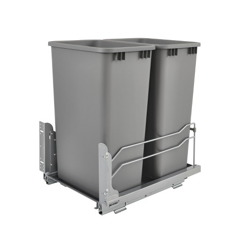 Rev-A-Shelf Double 50-Quart Undermount Trash Can Pullout Kitchen Waste Container - image 1 of 4