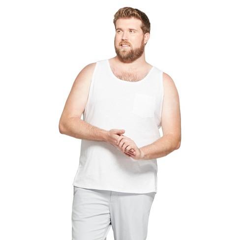ece2627c3c5a0 Men s Regular Fit Tank Top - Goodfellow   Co™ True White XL   Target