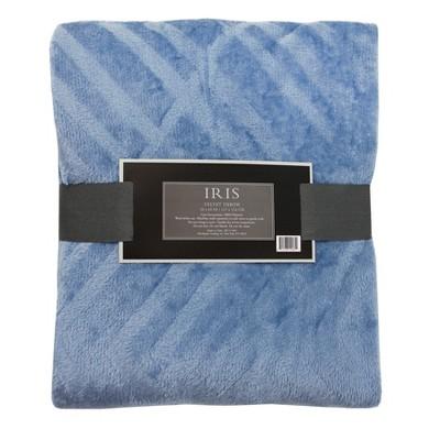 Textured Solid Color Throw Blanket - Iris