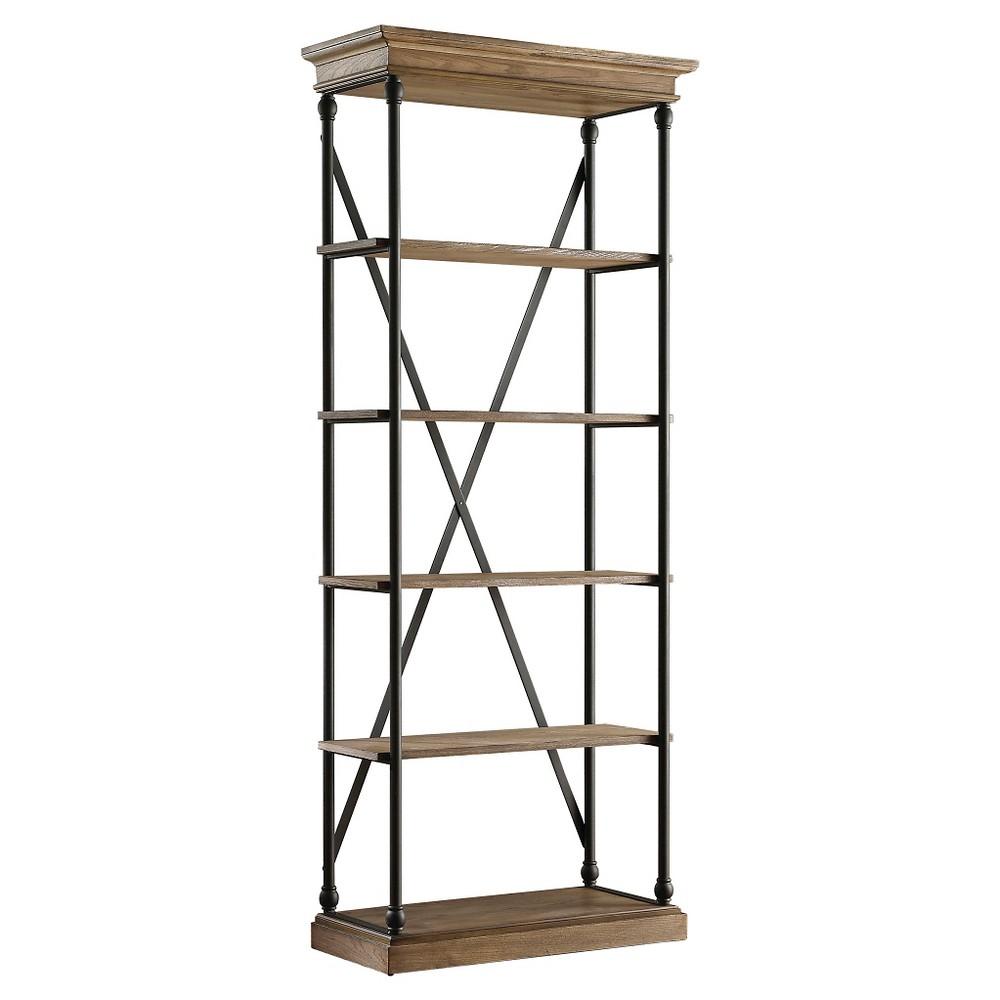 Belvidere 84 5 Shelf Narrow Bookcase - Black - Inspire Q