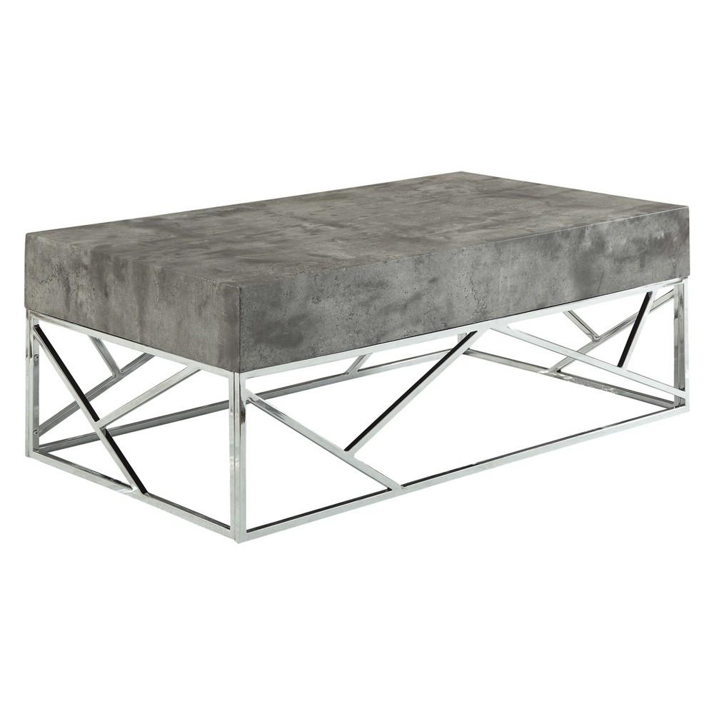 Acme Furniture Burgo Coffee Table Faux Marble Chrome