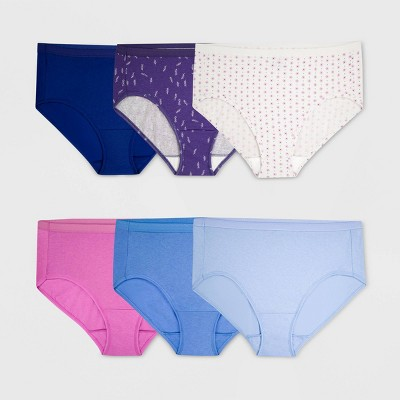 Fit for Me by Fruit of the Loom Women's Plus 6pk Cotton Hipster Briefs - Colors May Vary