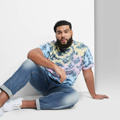 Men's Tie-Dye Regular Fit Short Sleeve Crewneck T-Shirt - Original Use™ Pink