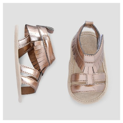 Baby Girls' Gladiator Sandals - Cat & Jack™ Gold 0-3 Months