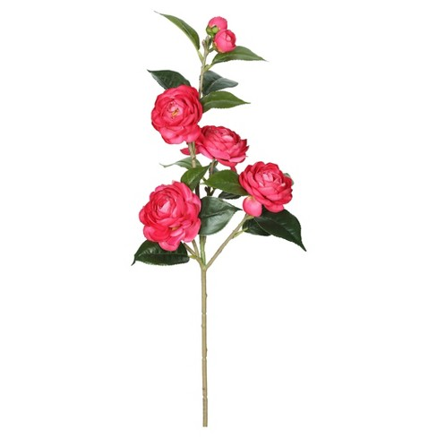 "Artificial Camellia Spray (29"") Pink - Vickerman - image 1 of 1"