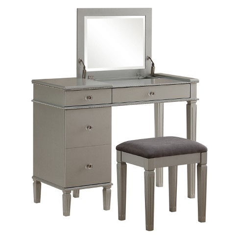 Alexanderia Silver Vanity - Linon Home Decor - image 1 of 5