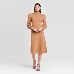 Women's Puff Long Sleeve High Neck Sweater Dress - Who What Wear™