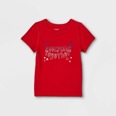 Toddler Boys' Adaptive Short Sleeve Graphic T-Shirt - Cat & Jack™ Red