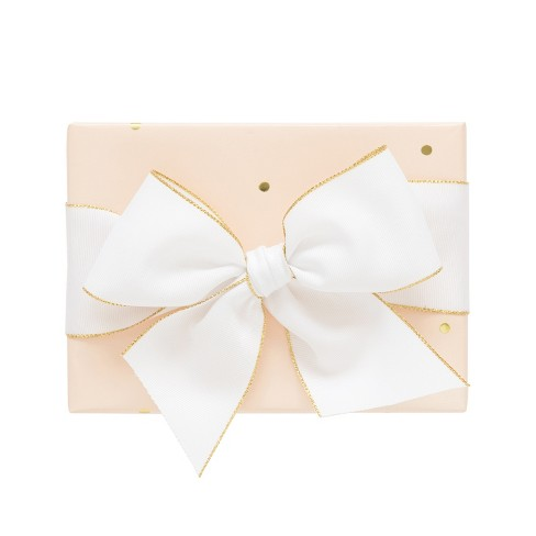 Pale Pink With Gold Dots Gift Wrap, Single Roll - sugar paper™ - image 1 of 1