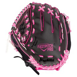 """Franklin Sports PVC Windmill Series Right Handed Thrower Softball Glove - Gray/Pink Mesh (11.0"""")"""