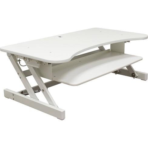 Lorell Deluxe Adjustable Desk Riser - White - image 1 of 3