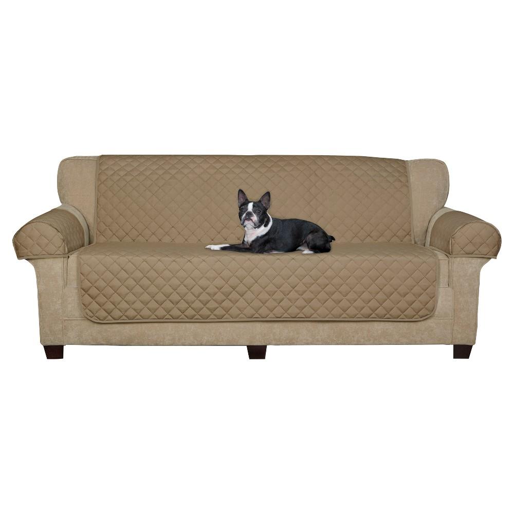 Tan Suede Waterproof Sofa Pet Throw (3 Piece) - Maytex