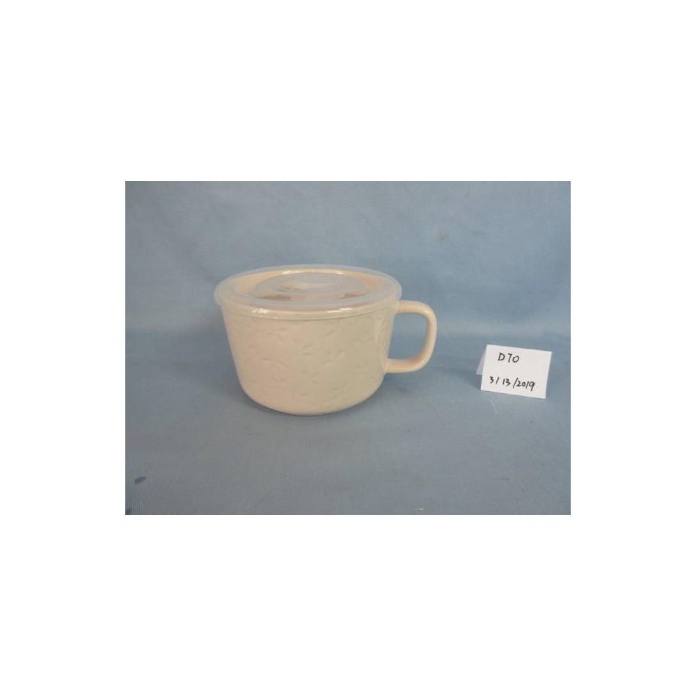 Image of 17.6oz Stoneware Soup Mug Peach - Threshold