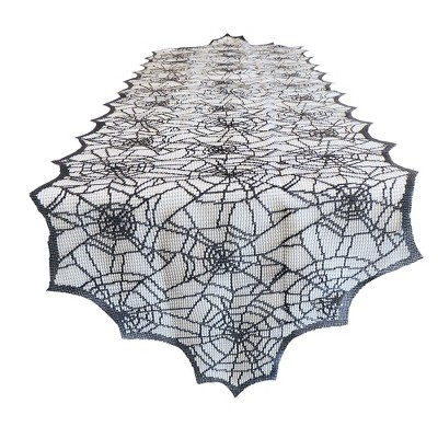 48''x14  Halloween Web Lace Table Runner - Hyde and Eek! Boutique™