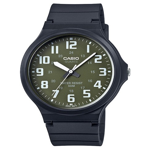 Casio Men's Super Easy Reader Watch, Green/White Dial - MW240-3BV - image 1 of 1