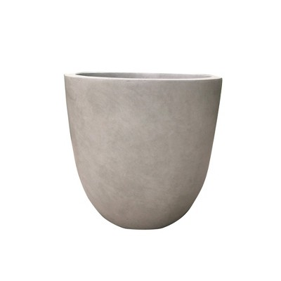 """17"""" Kante Lightweight Concrete Modern Seamless Outdoor Planter - Rosemead Home & Garden, Inc."""