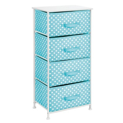 mDesign Fabric 4-Drawer Closet Storage Organizer Furniture Unit