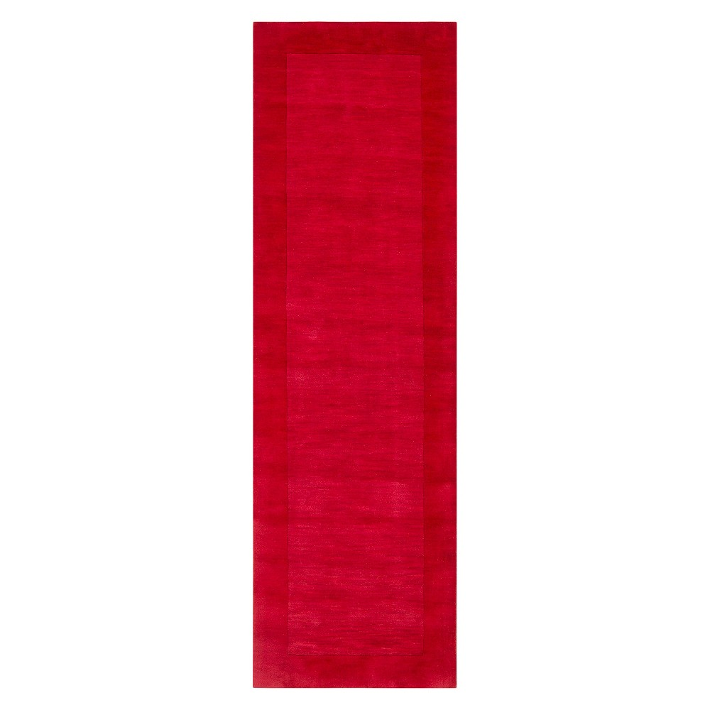 Cherry (Red) Solid Woven Runner Rug - (2'6X8') - Surya