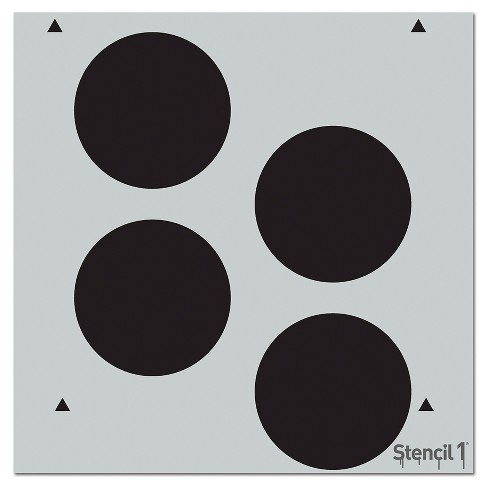 """Stencil1 Dots Repeating - Wall Stencil 11"""" x 11"""" - image 1 of 3"""