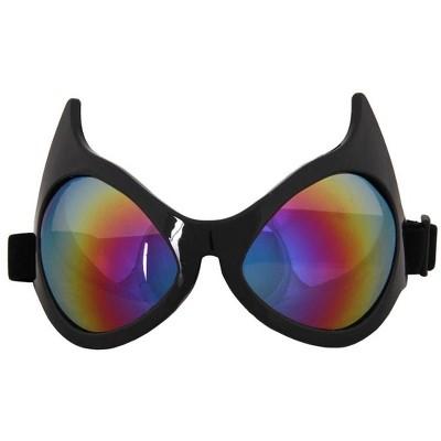 Elope Cat Eye Costume Goggles Adult: Rainbow Lens