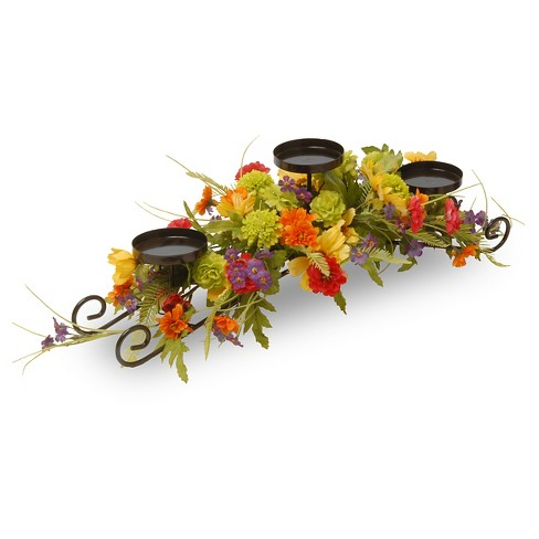 "Cosmos Mixed 3-Candle Holder 30"" - National Tree Company® - image 1 of 1"