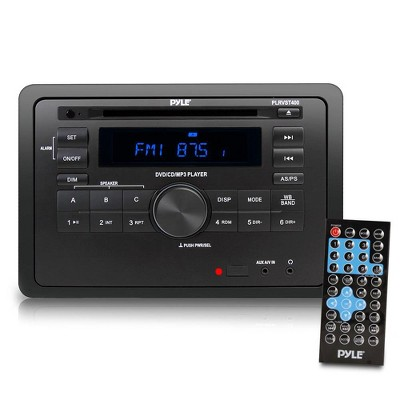 Pyle PLRVST400 RV Wall Mounted LCD Display Audio Video Multifunctional Digital Receiver System with Bluetooth Capability and Remote Control Included
